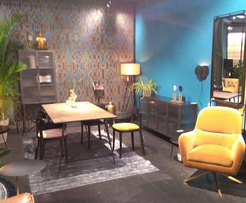 Maison et Objet Janvier 2020 ambiance jaune moutarde bleu caraibes by Decoration et Jardins