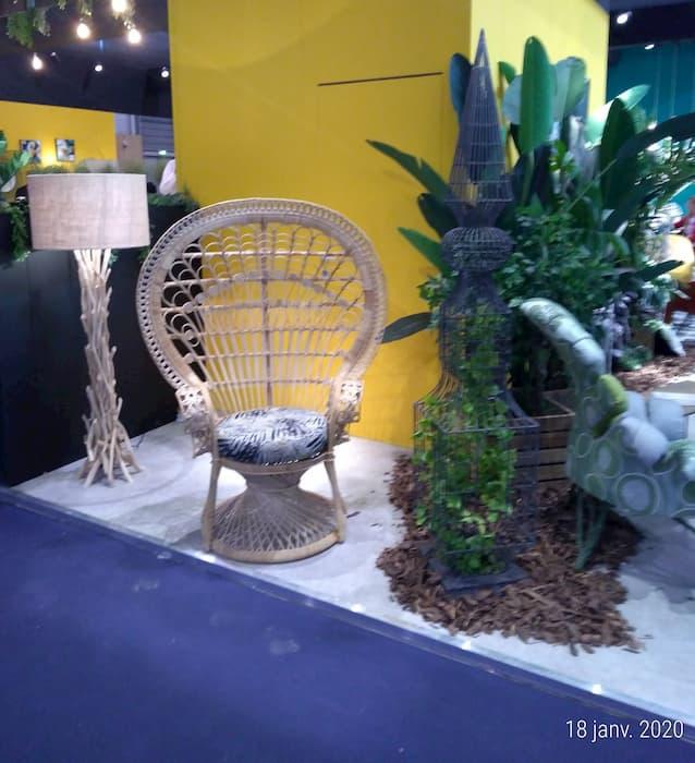 Maison et Objet Janvier 2020 fauteuil en rotin Inspiration Végétale by Decoration et Jardins