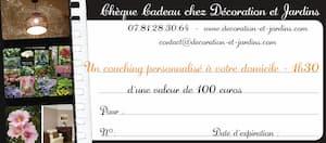Idée originale de cadeau - Le chèque cadeau Décoration et Jardins
